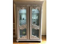 stunning carved french style shabby chic armoire, wardrobe, cabinet