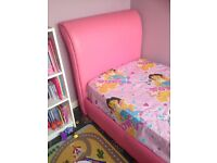 2 X Pink leather beds