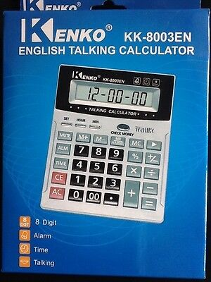 Shipping Time Calculator (English Talking Calculator LARGE NUMBERS w/ Alarm & Time. Watch SHIPS FROM)