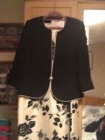 Ivory and Black Dress and Jacket by Jacques Vert