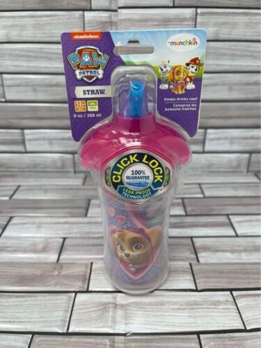 Munchkin Paw Patrol Spill Proof 9 oz Click Lock Pink Insulated Sippy Cup 12mo+
