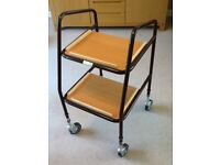 Mobility trolley with two trays, height adjustable, Max load 125kg.