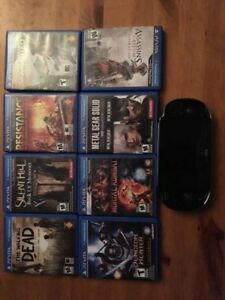 Selling PS Vita with 8 games