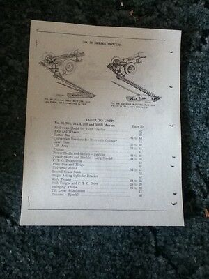 New Reprint Parts Manual For A New Idea No. 30 30a 30ah 30b 30bh Mower