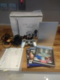 Silver playstation 2 fully working