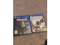 Video Games PS4 Ride 2, assassins creed IV black flag