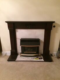 Fire Surround wood/marble