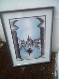 Original Signed Art - double matted and framed