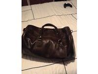 John Lewis brown leather bag