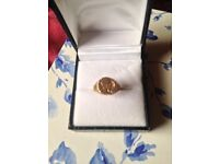 9ct Gold Maximilian Coin Ring Size N