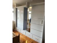 💥Limited Sale💥STYLISH DESIGN HIGH GLOSS SYCYLIA WARDROBE Available In Stock💥Order Now💥