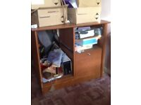 Brown storage/filing cabinet tatty condition.