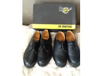 Dr Martin shoes 2 pair colour black sizes 42 / 8. New and boxed