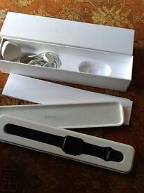 APPLE WATCH, SPORT, AS NEW IN BOX WITH ALL PACKAGING, ADAPTOR, STRAP, UNWNATED PRESENT