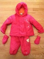 Baby Gund Snowsuit with detachable mittens