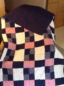 Reversible hand made quilt (queen size)