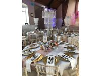 Chair cover hire 80p table Cloth hire from £5.00 Plate charger hire 80p Call us on 07908166162