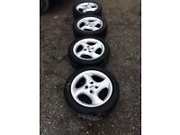 FORD MONDEO MK2 ST SET OF 4 ALLOY WHEELS 4 GOOD TYRES