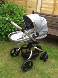 Mothercare spin orb,exellent condition.pls look again right colour footmuff this time.