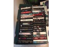 MASSIVE COLLECTION OF BOOKS 444 IN TOTAL THRILLER CRIME TRUE HORROR ALL GOOD AUTHOR LOADS UNREAD