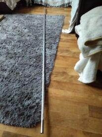 chrome wardrobe pole 2.44m long