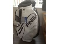 Brand new, unwanted gift Ping DL Xll White tour golf bag
