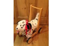 MULHOLLAND AND DAILIE PUSH ALONG DALMATION DOG, FANTASTIC CONDITION