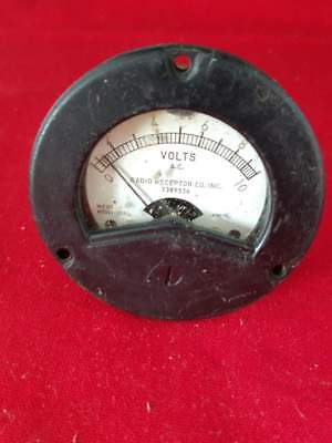 Vintage Weston Model 2524 Ac Volts Analog Panel Meter Untested