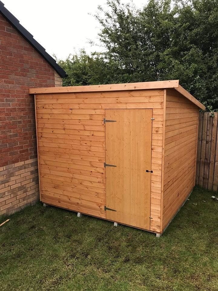 8FT x 6FT Garden Shed fully T&G Minimum 12mm Cladding - Brand New & Top Quality