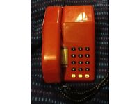 Telephone Viscount by bt red rare 1970/80s