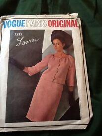 Vintage, complete Vouge patterns