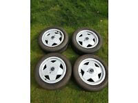 BORBET A ALLOY WHEELS PEUGEOT FORD FIESTA CITREON 4X108 DEEP DISH NOT BBS RONAL