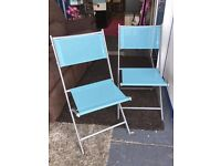 New Pair of Bistro Chairs Patio Garden Chairs