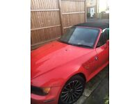 Red BMW Z3 with full service and MOT