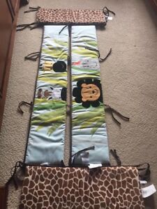 Lambs & Ivy Jungle Bedding Set, Bumper Pads and Mobile