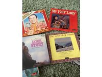 Collectors vinyl records in sleeves
