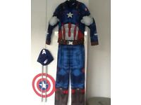 CAPTAIN AMERICA COSTUME age 9-10 YEARS
