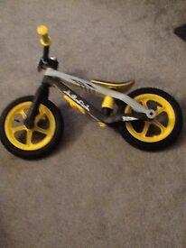 Hardly used bmx style balance bike