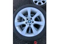 """BMW 18"""" Genuine alloys wheels with Dunlop tyres"""