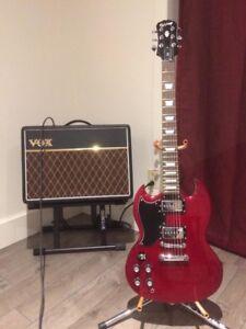 Guitare électrique gauchère