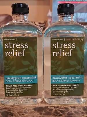 2 Bath & Body Works Eucalyptus Spearmint Stress Relief Aromatherapy Shampoo (Bath & Body Works Shampoo)