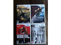 Wii games, Resident Evil, Ghost Squad, Red Steel and Metroid Prime3 Corruption. As good as new.
