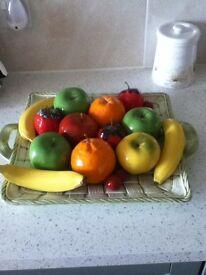 Ceramic Fruit & Bowl