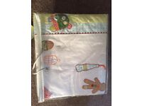 Mamas and Papas Gingerbread quilt & pillow bedding set (x2 - twins). Cot / cotbed. Baby / toddler