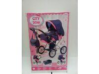Doll Pram City Star Brand New Sealed