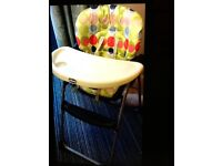 Chico baby highchair folding good condition