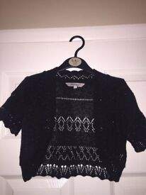 Girls black cardigan aged 6-7 years