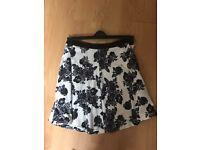 Ladies size 12 black and white skirt