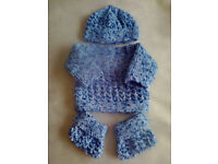 NEW Handknitted Baby Set