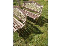 Iron garden benches/seats